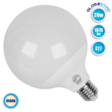 Λάμπα LED E27 G125 Γλόμπος 20W 230V 1970lm 260° Φυσικό Λευκό 4500k GloboStar 01737