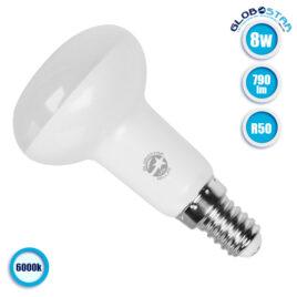 Λάμπα LED E14 R50 Σποτ 8W 230v 790lm 120° Ψυχρό Λευκό 6000k GloboStar 01742