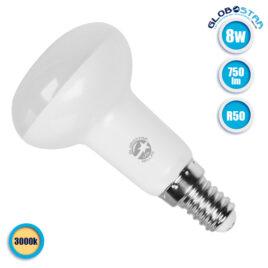 Λάμπα LED E14 R50 Σποτ 8W 230v 750lm 120° Θερμό Λευκό 3000k GloboStar 01744