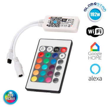 Ασύρματο Smart Home WiFi LED Controller RGB & RGBW 192 Watt 5 έως 28 Volt GloboStar 04039