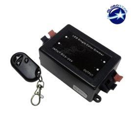 Μαύρο Ασύρματο Dimmer 5-12-24 Volt 8 Ampere GloboStar 13930