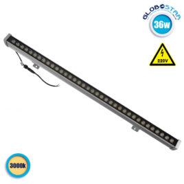 LED Wall Washer 36W 230V 3200lm 30° 100cm Αδιάβροχο IP65 Θερμό Λευκό 3000k GloboStar 05013