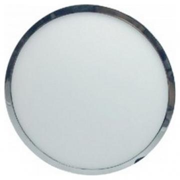 LED Εξωτερικό Πάνελ mini slim Χρώμιο 12W στρογγυλό Φως Ημέρας 6365 (6365)