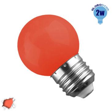 Λάμπα LED E27 G45 Mini Γλόμπος 2W 230V 260° Πορτοκαλί Dark GloboStar 64009