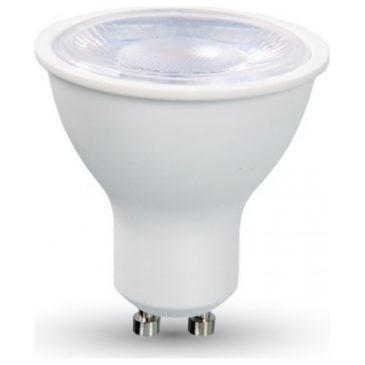 LED Spot VTAC GU10 Lens 8W Πλαστικό 38° Ψυχρό Λευκό 6400Κ (1695)