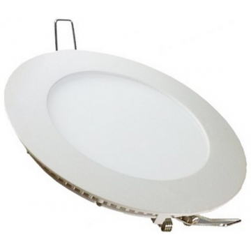LED  Πάνελ mini slim 22W στρογγυλό Θερμό Λευκό (6422)