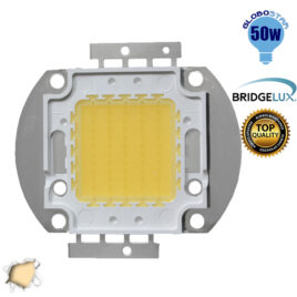 Υψηλής Ισχύος COB LED BRIDGELUX 50W 32V 4750lm Θερμό Λευκό 3000k GloboStar 50840