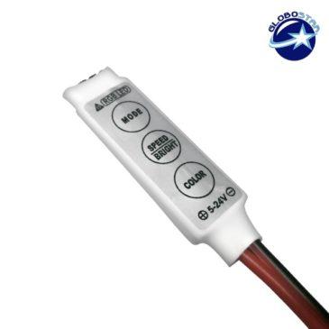 LED RGB Controller με Καλώδιο 5-12-24 Volt 72 Watt GloboStar 77412