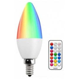 LED V-TAC Λάμπα 3.5W E14 Κεράκι RGB + Φως Ημέρας με RF ασύρματο χειριστήριο 2770 (2770)