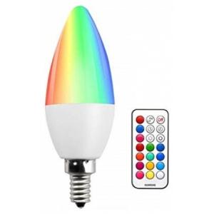 LED V-TAC Λάμπα 3.5W E14 Κεράκι RGB + Ψυχρό Λευκό με RF ασύρματο χειριστήριο 2771 (2771)