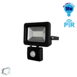 Προβολέας LED Slim Pad 10W 230V 1000lm 120° Αδιάβροχος IP66 με Αισθητήρα Ψυχρό Λευκό 6000k GloboStar 11126