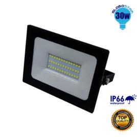 Προβολέας LED Slim Pad 30W 230v 3000lm 120° Αδιάβροχος IP66 Ψυχρό Λευκό 6000k GloboStar 11114