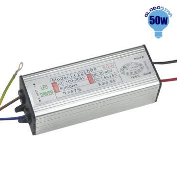 Μετασχηματιστής Προβολέα LED 50W IN 230V OUT 27-38V 0.95PF GloboStar 47855