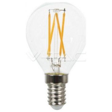 LED V-TAC Λαμπα E14 4W (P45) Cross Filament Θερμό Λευκό (43001)
