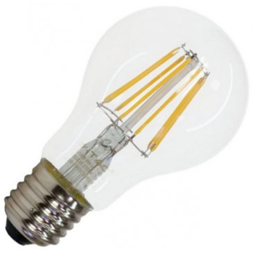 LED V-TAC Λάμπα Ε27 4W (A60) Cross Filament Dimmable Θερμό Λευκό 43641 (43641)