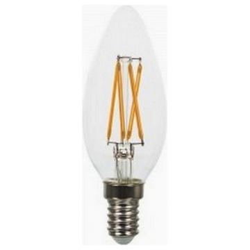 LED V-TAC Λάμπα Cross Filament E14 Κεράκι 4W  Θερμό Λευκό Dimmable (43651)
