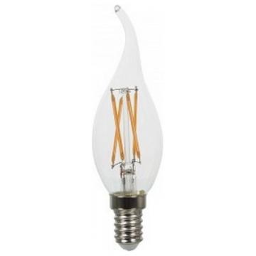 LED V-TAC Λάμπα Cross Filament E14 Κεράκι 4W Σχήμα Φλόγας Φως Ημέρας (4429)