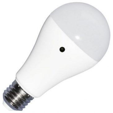 LED Λάμπα με Αισθητήρα μέρας / νύχτας E27 9W (A60) 200° VTAC Ψυχρό Λευκό 4461 (4461)