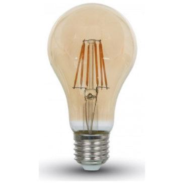 LED V-TAC Λάμπα Ε27 8W  Filament Amber Cover 2300K 4472 (4472)