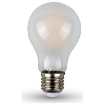 LED V-TAC Λάμπα 4W Filament E27 A60 White Cover Ψυχρό Λευκό 6400Κ 4491 (4491)
