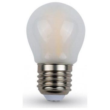 LED V-TAC Λάμπα Ε27 4W Filament G45 Frost Cover Θερμό Λευκό 2700K 4495 (4495)