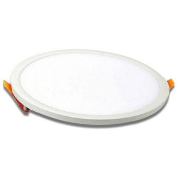 LED Πάνελ 29W Στρογγυλό Χωνευτό  Frameless Ψυχρό Λευκό (4942)