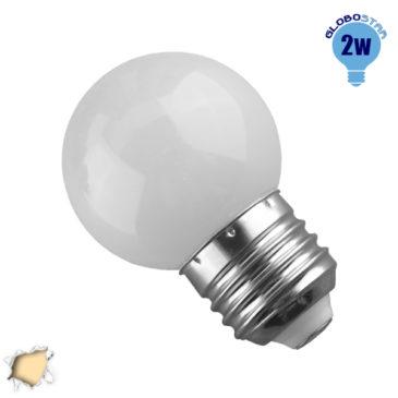 Λάμπα LED E27 G45 Mini Γλόμπος 2W 230V 180lm 260° Θερμό Λευκό 3000k GloboStar 64001