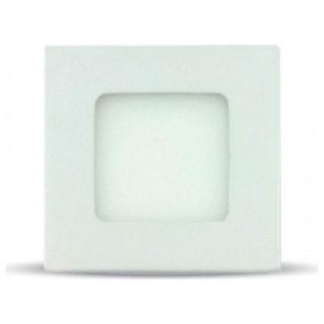 LED mini Πάνελ V-TAC 3W Λευκό Τετράγωνο Ψυχρό Λευκό (6297)