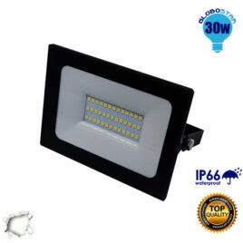 Προβολέας LED Slim Pad 30W 230v 2850lm 120° Αδιάβροχος IP66 Φυσικό Λευκό 4500k GloboStar 11115