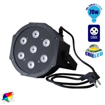 Επαγγελματική Κεφαλή PAR LED 70W 230V 30° DMX512 RGBW GloboStar 51120