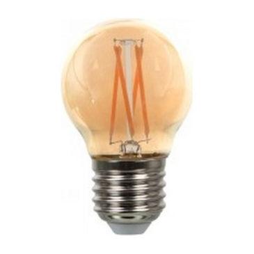 LED V-TAC Λάμπα Ε27 4W Cross Filament G45 Amber Cover Θερμό  2200K 71001 (71001)