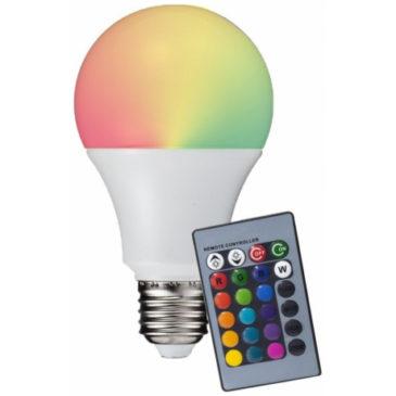 V-TAC LED Λαμπτήρας E27 6W (A60)  RGB με Τηλεχειριστήριο και Φώς Ημέρας 4000Κ (7150)