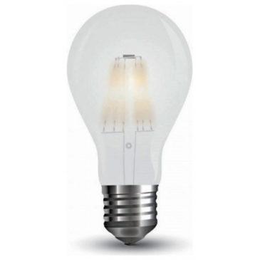LED V-TAC Λάμπα 10W  Filament E27 A67 Frost Cover  Ψυχρό Λευκό 6400Κ 7154 (7154)