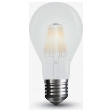 LED V-TAC Λάμπα 7W  Filament E27 A60 A++ Frost Cover  Θερμό Λευκό 2700Κ 7181 (7181)