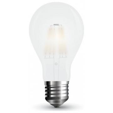 LED V-TAC Λάμπα 9W  Filament E27 A67 A++ Frost Cover  Θερμό Λευκό 2700Κ 7184 (7184)