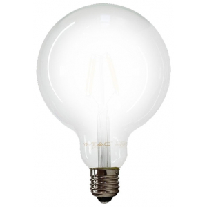 LED V-TAC Λάμπα Ε27 7W Filament Σφαιρική G95 Frost Cover Θερμό 2700Κ 7187 (7187)