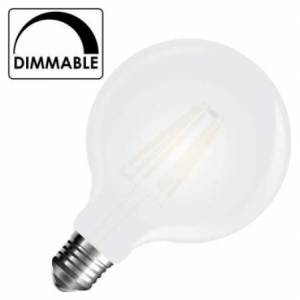 LED V-TAC Λάμπα Ε27 7W Filament Σφαιρική G95 Frost Cover Θερμό 2700Κ Dimmable 7191 (7191)