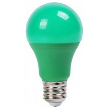 LED V-TAC Λάμπα E27 9W A60 Thermoplastic Πράσινη 7343 (7343)