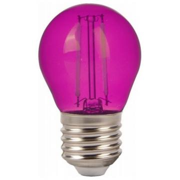 LED V-TAC Λάμπα Filament Ε27 2W (G45) Ρόζ Φούξια 7410 (7410)