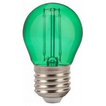 LED V-TAC Λάμπα Filament Ε27 2W (G45) Πράσινο 7411 (7411)