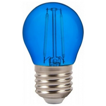 LED V-TAC Λάμπα Filament Ε27 2W (G45) Μπλέ 7412 (7412)