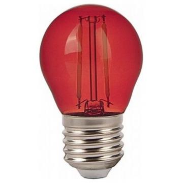 LED V-TAC Λάμπα Filament Ε27 2W (G45) Κόκκινο 7413 (7413)