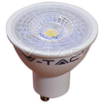 LED Σποτ VTAC GU10 7W Plastic Lens 550lm Ψυχρό Λευκό (1659)
