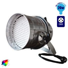Επαγγελματική Κεφαλή PAR 177 LED 20W 230V 60° DMX512 Ασημί Χρώμα RGB GloboStar 51118