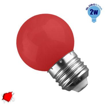 Λάμπα LED E27 G45 Mini Γλόμπος 2W 230V 260° Κόκκινο GloboStar 64004