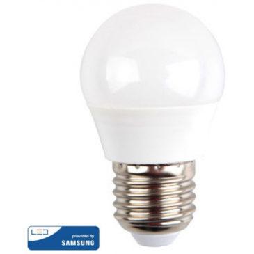 LED V-TAC Λάμπα Ε27 7W G45 SAMSUNG CHIP Ψυχρό Λευκό 868 (868)