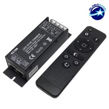 Ασύρματο LED RF SYNC Dimmer 12-24 Volt 300 Watt με Τηλεχειριστήριο GloboStar 04044
