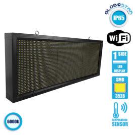 Αδιάβροχη Κυλιόμενη Επιγραφή SMD LED 230V USB & WiFi Λευκή Μονής Όψης 104x40cm GloboStar 90118