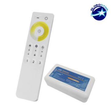 Σετ Ασύρματο RF 2.4G LED Dimmer Αφής 2 Χρωμάτων 12-24 Volt για Ένα Group GloboStar 04040