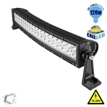Μπάρα LED Curved CREE Combo 120W 10-30V 16800lm 30° & 60° Αδιάβροχη IP65 Ψυχρό Λευκό 6000k GloboStar 05190